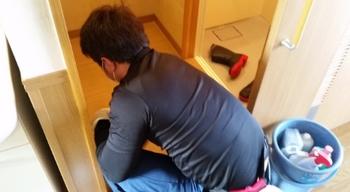 知多市で介護施設に入居されてる方のお部屋のクリーニング